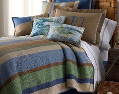 Arles Bed Linens Fish Camp Pillow, 13 x 18 traditional-pillows