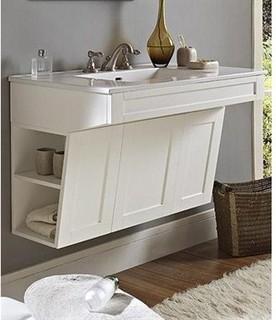 "Fairmont Designs Shaker 36"" Wall Mount ADA Vanity - Polar White - Modern - Bathroom Vanities And ..."