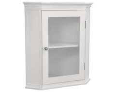 Madison Avenue Corner Wall Cabinet traditional-bathroom-cabinets-and-shelves