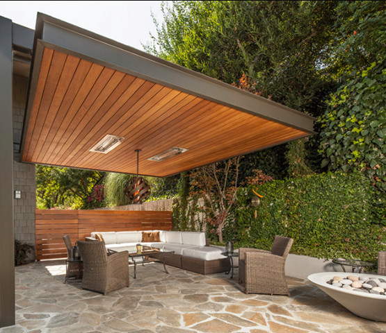 Modern Or Rustic Front Landscape Design: Restaurant Patio Heaters