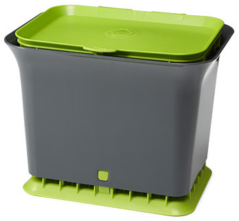 Fresh Air Compost Collector modern kitchen trash cans