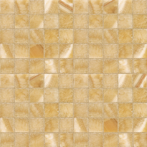 Honey Onyx Polished Mosaic contemporary bathroom tile