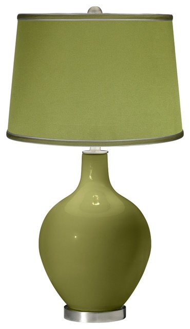rural green satin olive green shade ovo table lamp. Black Bedroom Furniture Sets. Home Design Ideas