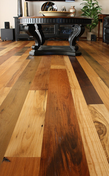 Wood flooring reclaimed antique mixed hardwoods for Different colors of hardwood floors