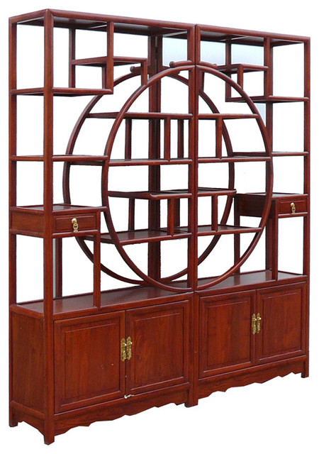 Gorgeous Rose Wood Room Divider Display Cabinet - Asian ...