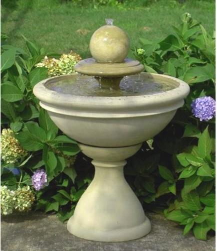 Contemporary Backyard Fountains : Garden Outdoor Fountain with Sphere  Contemporary  Outdoor Fountains