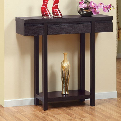 Logan Console / Sofa Table in Red Cocoa modern-side-tables-and-end-tables