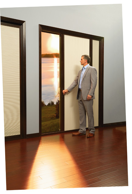 Built In Interior Shades From Marvin Transitional Interior Doors New York By Authentic