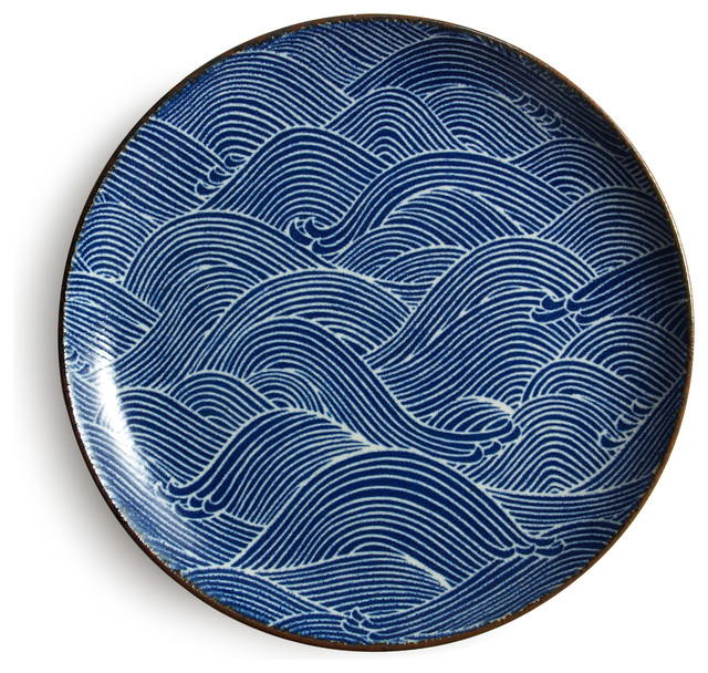 Aranami Blue 10quot Plate Asian Dinner Plates by Miya  : asian dinner plates from houzz.com size 640 x 608 jpeg 207kB