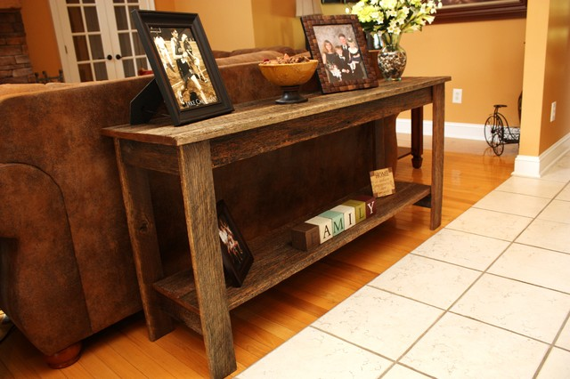 Reclaimed Oak Sofa Table Rustic Console Tables