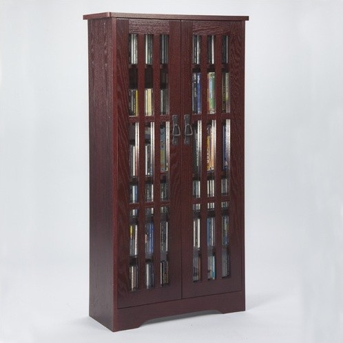 Glass Door Tall Multimedia Cabinet - Modern - Storage Cabinets - by Wayfair