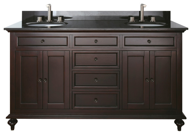 Merlot 60-Inch Double Vanity Combo - Transitional - Bathroom Vanities And Sink Consoles - by ...