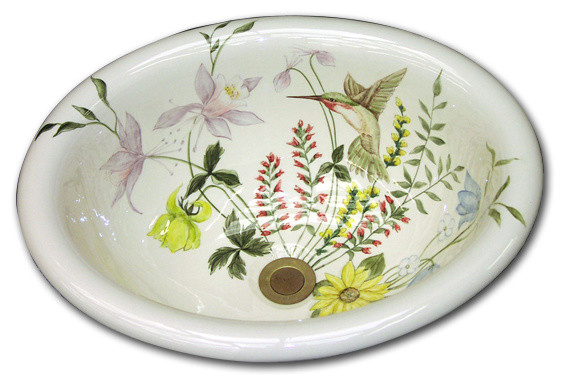 Marzi 39 S Hand Painted Sinks Traditional Bathroom Sinks Other Metro By Marzi Sinks