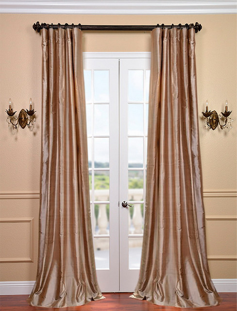 cairo dune silk stripe curtain contemporary curtains san francisco by half price drapes. Black Bedroom Furniture Sets. Home Design Ideas