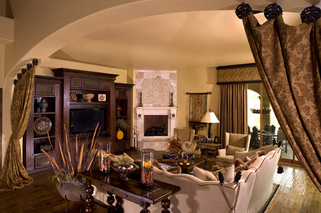Mediterranean Family Room rustic-family-room
