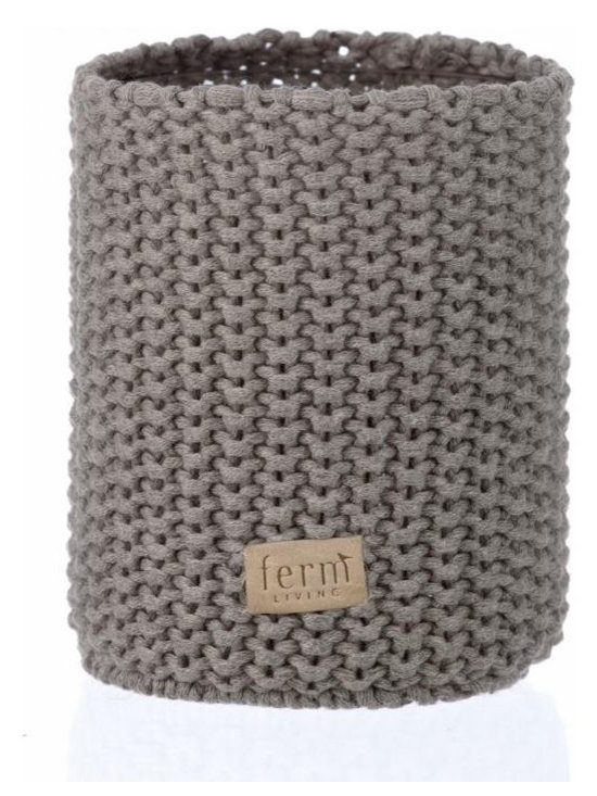 Ferm Living Knitted Vase - Each of Ferm Living's knitted vases is a combination of a glass vase with a knitted cover. Use the vases for plants, pencils and other pretty things in the nursery or family room.