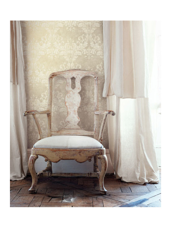 Vintage Wallpaper - A classy damask wallpaper with a vintage inspiration available from Brewster Home Fashions