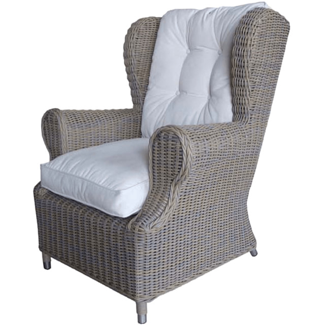 Padma s Plantation Kubu Outdoor Wing Chair Contemporary