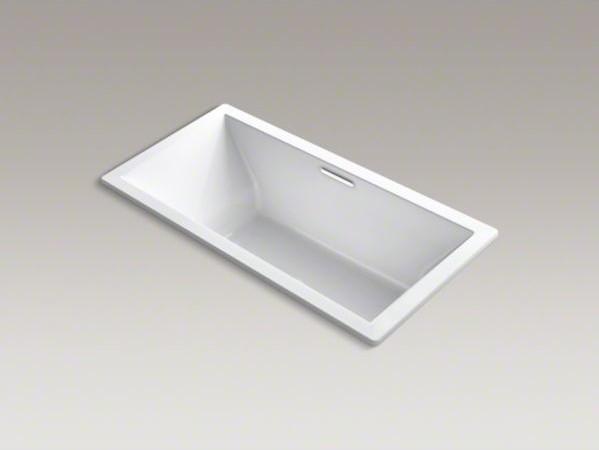 "KOHLER Underscore(R) 72"" x 36"" drop-in VibrAcoustic(R) bath with center drain contemporary-bathtubs"
