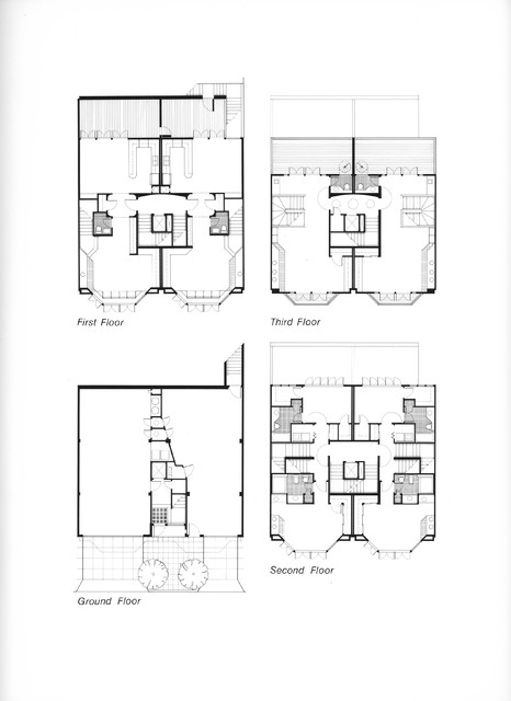 Houzz townhouse floor plans joy studio design gallery for Contemporary townhouse plans