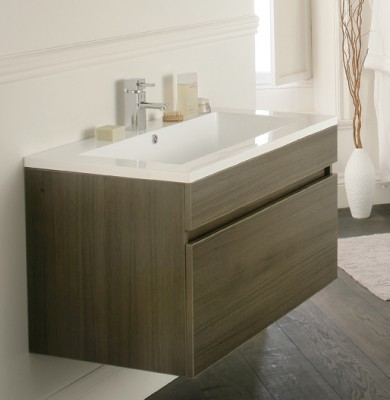 Oviedo 900mm Wall Hung Unit Modern Bathroom Vanity Units Sink Cabin