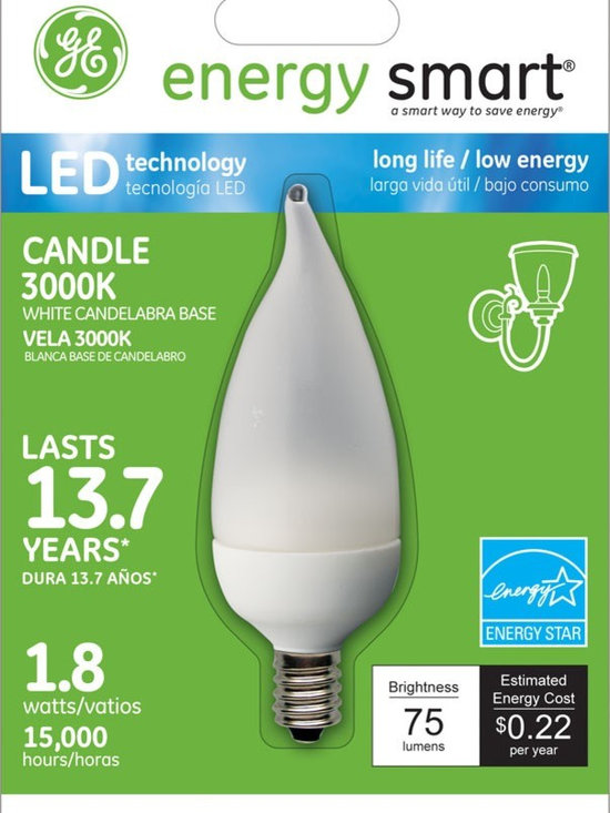 GE Energy Smart 10W Replacement (1.8W) Candle CA11 LED Bulb (Warm, Frosted, E12) - GE Energy Smart 10W Replacement (1.8W) Candle CA11 LED Bulb (Warm, Frosted, E12) | http://www.agreensupply.com/ge-energy-smart-10w-replacement-1-8w-candle-ca11-led-bulb-warm-frosted-e12/