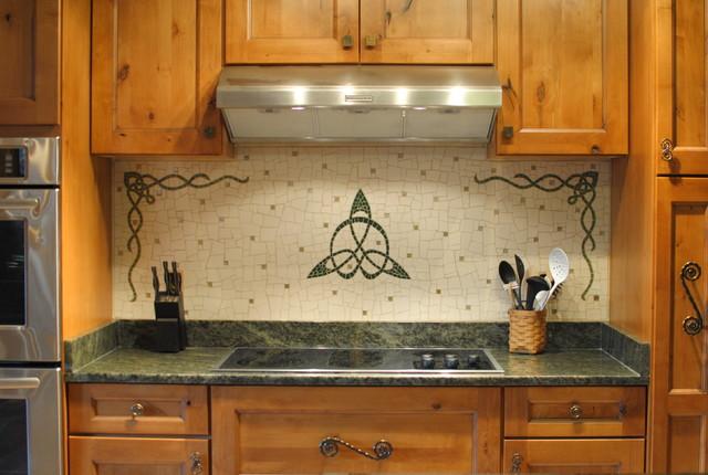 Celtic backsplash tile richmond by phoenix handcraft for Irish kitchen designs