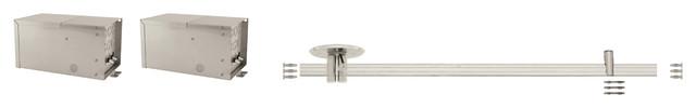 Monorail 2 Circuit 4x300W Remote Kit 1 Inch Drop by Edge Lighting contemporary-track-lighting-kits
