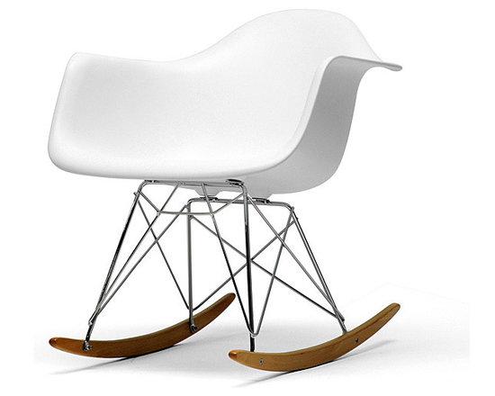 Vinnie White Cradle Chair -