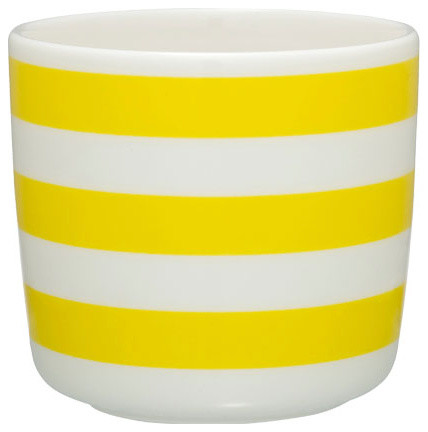 Tasaraita Coffee Cup Without Handle Yellow White Modern