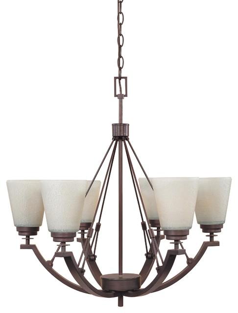 6 Light Chandelier modern-chandeliers