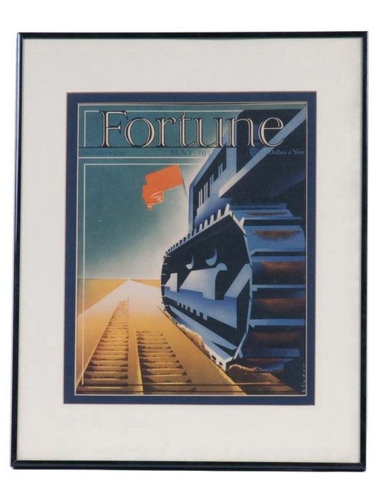 Fortune Print in Black Frame - May 1938 - $99 Est. Retail - $49 on Chairish.com -