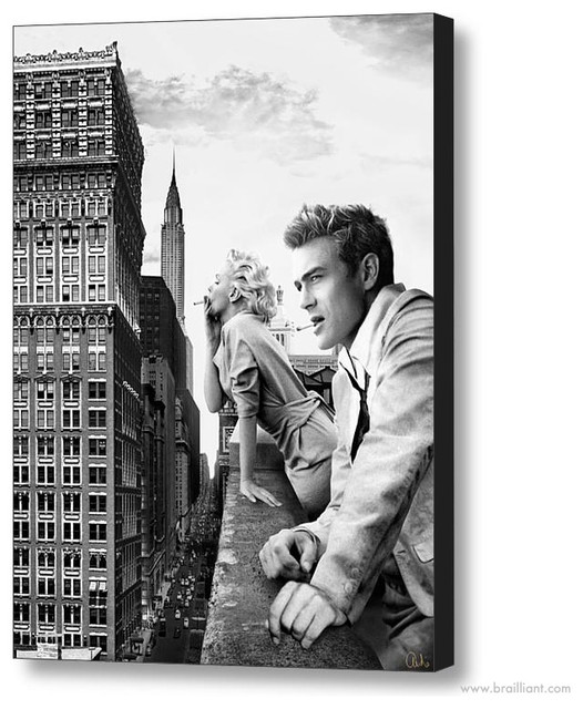 james dean black and white painting - photo #42