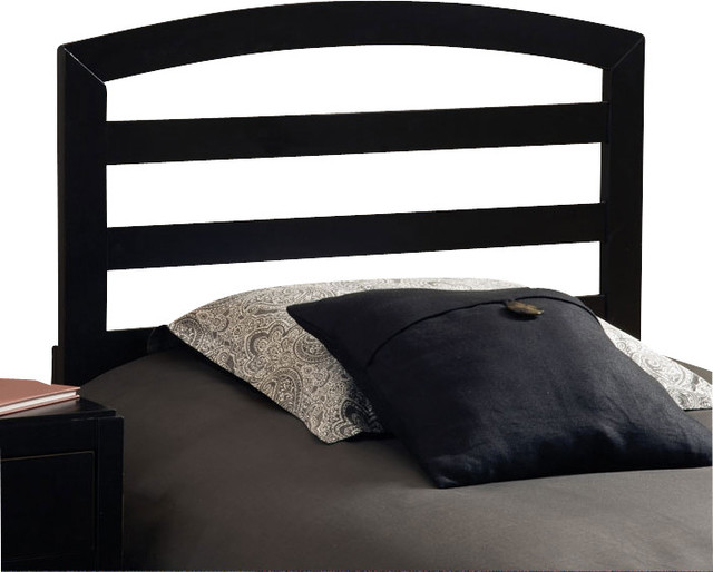 Hillsdale sophia wood headboard with rails in black twin Traditional wood headboard
