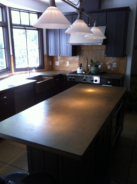 Concrete countertops Atlanta traditional-kitchen-countertops