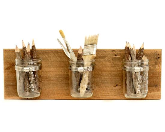 Wall Organization System, 5 - Mason Jar Organizer - 5 - Mason Jar Organizer