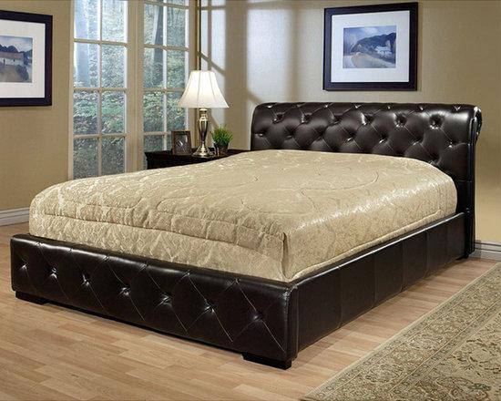 Abbyson Living - Delano Dark Brown Leather Bed -