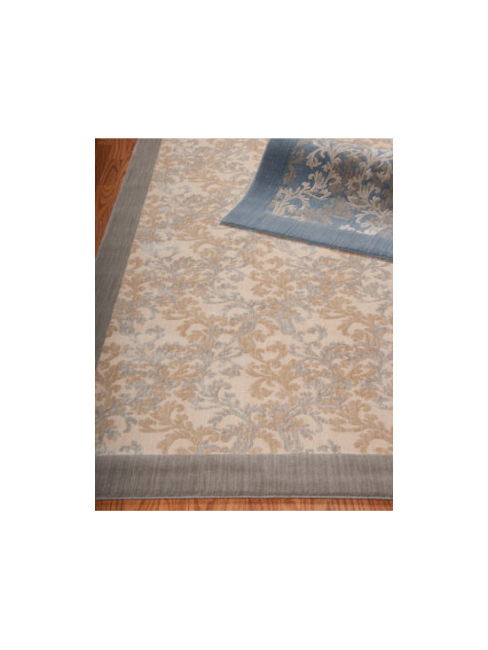 "Barclay Butera Lifestyle - Barclay Butera Lifestyle ""Dove Vines"" Flatweave Rug - Persian and damask patterns in barely-there colors bring a fresh sophistication to the room without overwhelming other elements. Densely power loomed for both affordability and durability. Made of New Zealand wool with viscose accents for shimmering h..."