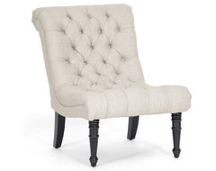 Caelie Beige Linen Modern Lounge Chair contemporary-chairs
