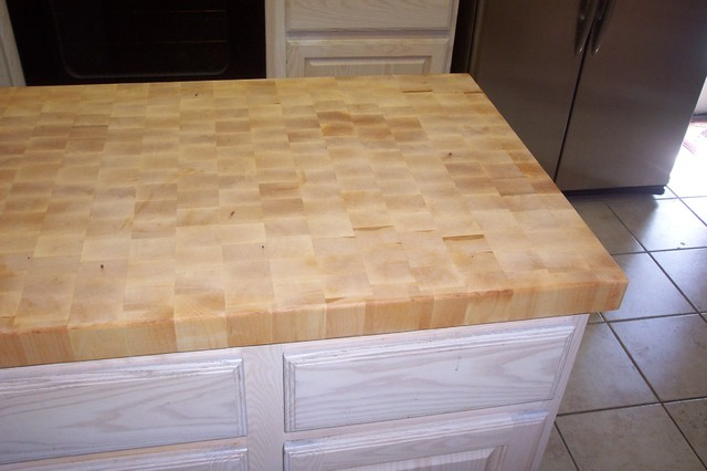 End Grain Butcher Block Counter Tops Traditional Kitchen Countertops Maple Countertop