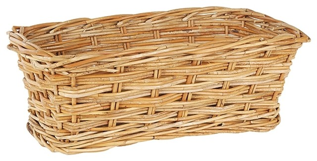 Window Rattan Basket in Natural contemporary-baskets