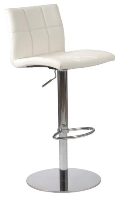euro style cyd adjustable bar stool white modern bar