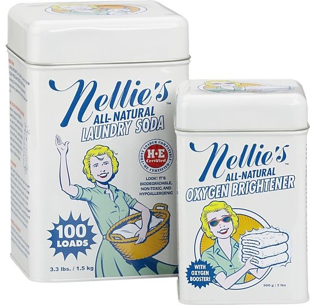 Nellie's Laundry Soda and Oxygen Brightener Set modern-laundry-products