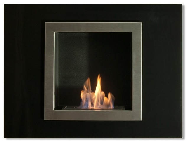 Villa Mini Recessed Bio Ethanol Fireplace Contemporary