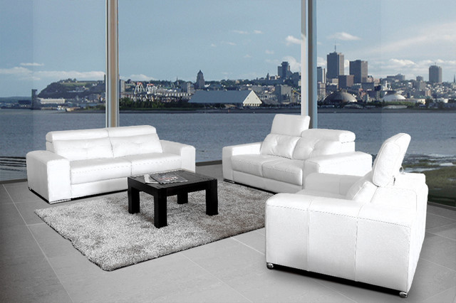 Bartolo modern leather sofa set modern living room for Contemporary lifestyle furniture dallas