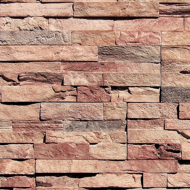 "Coronado 6"" Drystack Stone - Color: Golden Harvest - Stone Veneer Panel traditional-siding-and-stone-veneer"