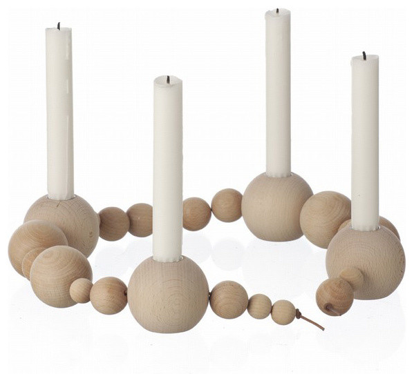 Candleholder String, Natural contemporary-candles-and-candleholders