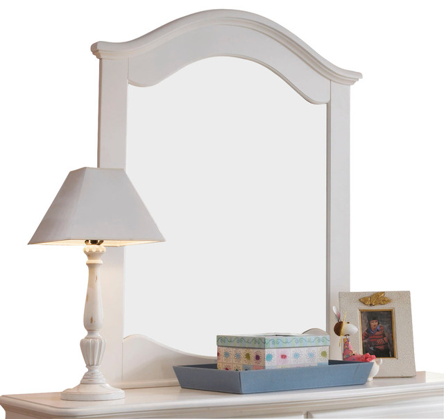 Lea Haley Vertical Mirror in White traditional-mirrors