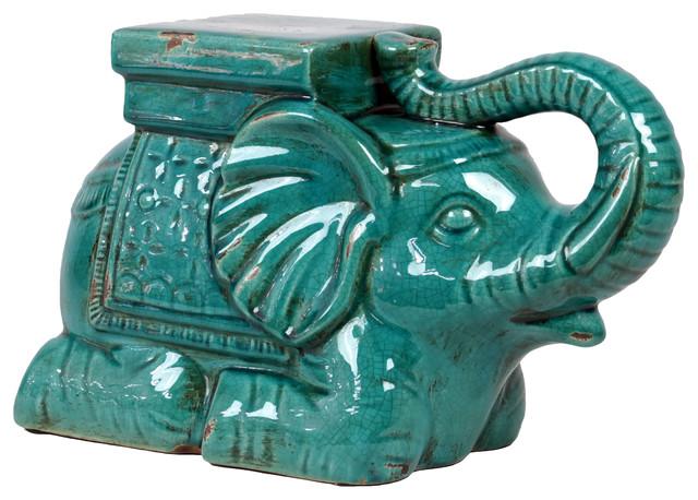 TMD-Ceramic Aqua Elephant home-decor