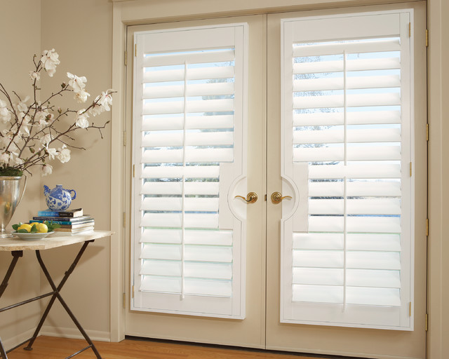 French Door Shutters: Interior Shutters - Transitional ...